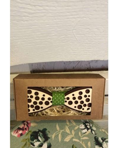 Drevený motýlik 3D M6