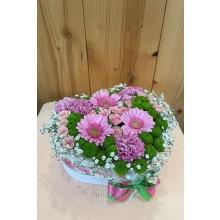 Kvetinový box srdce